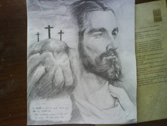drawing jesus christ by CoolBoysEnt