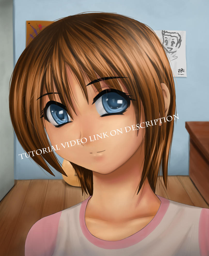 anime hair coloring tutorial by ITANIMATIONSTUDIO