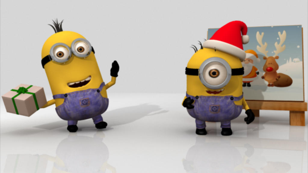 Images Of Christmas Minions Wallpaper Card