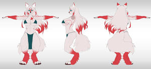 Commission:  Reference sheet for 3d model