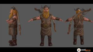 Commission:  Viking Archer (low poly 3k)