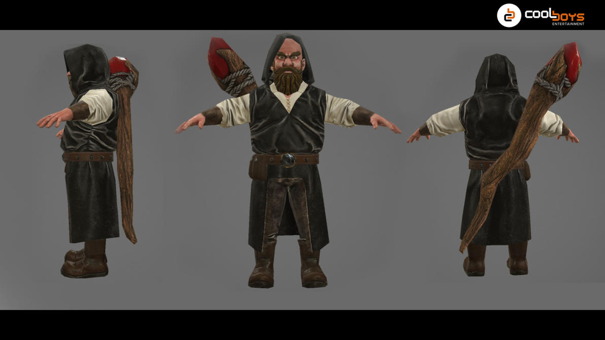Commission 3d model viking wizard by coolboysent on for Deviantart 3d models