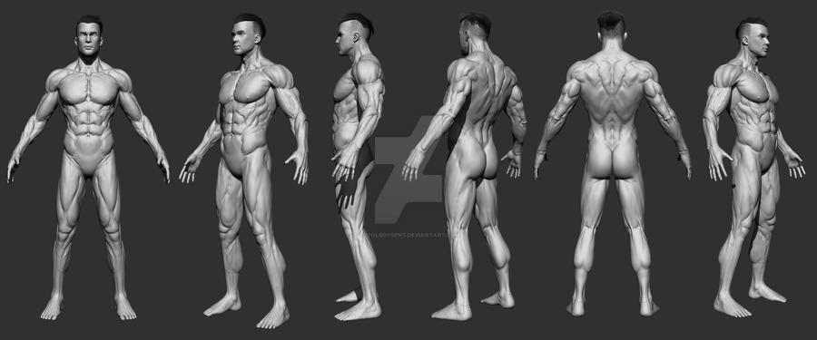 3d model male ^^ by CoolBoysEnt
