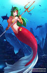commission for a card game mermaid