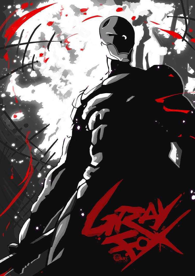 Poster design deviantart - Mgs Gray Fox Poster Design By Br3ar