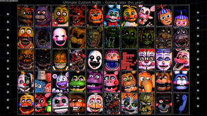 FNaF - Ultimate Custom Night Icons Remake by Puppetio