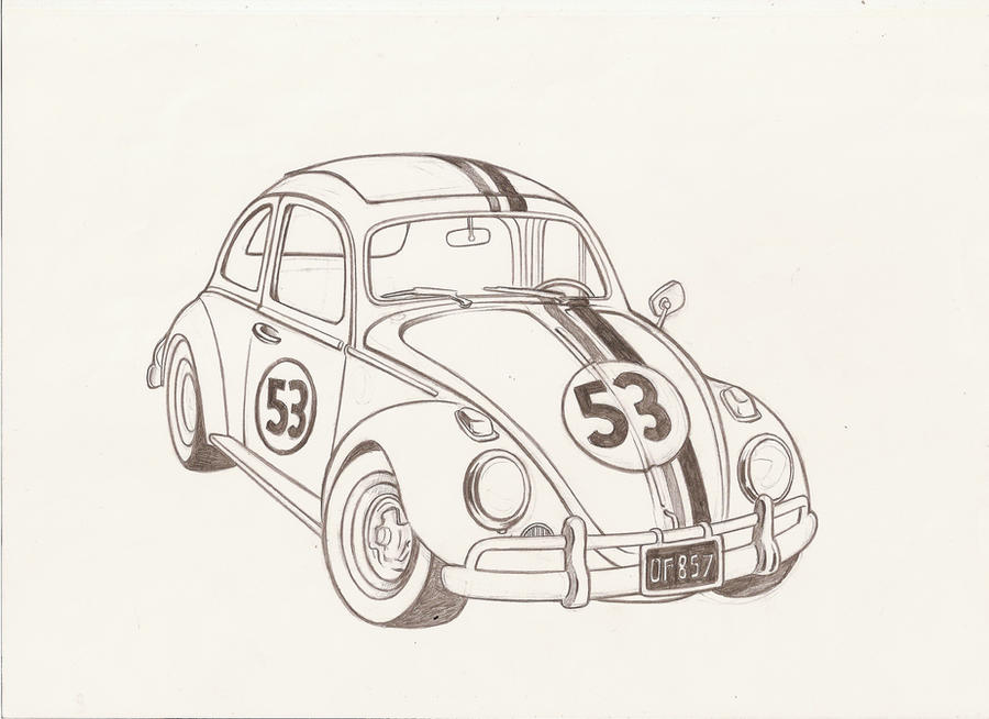 how to draw a bug car