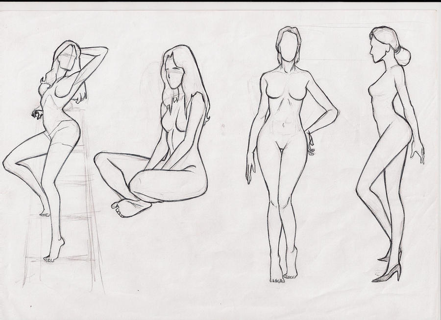 Gallery Realistic Female Body Drawing Template