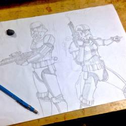 Stormtrooper work In progress  by ultraseven81