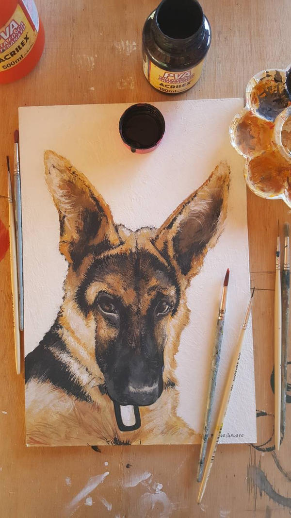 pet dog paint  by ultraseven81