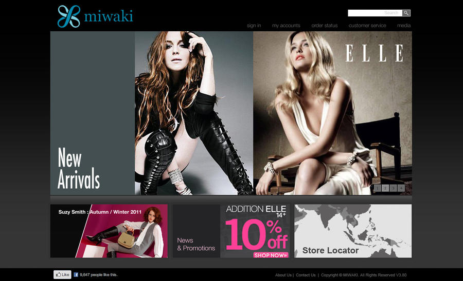 Website Homepage Fashion Design