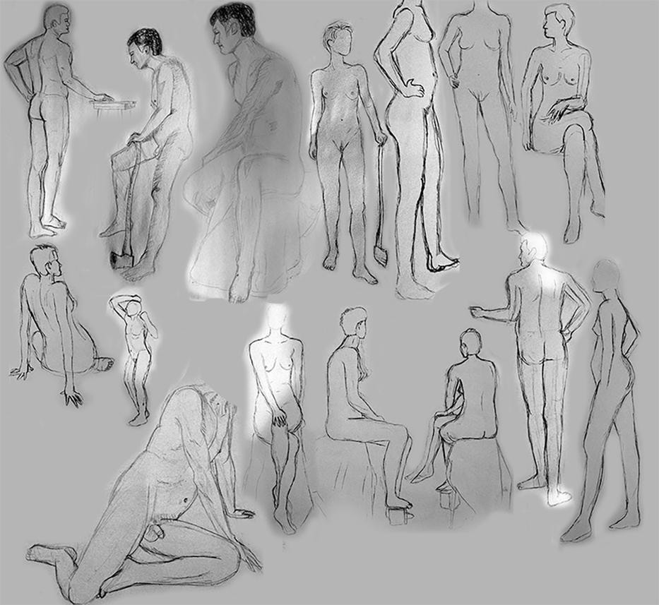 Nude Figure Sketches by RuJa4EVA