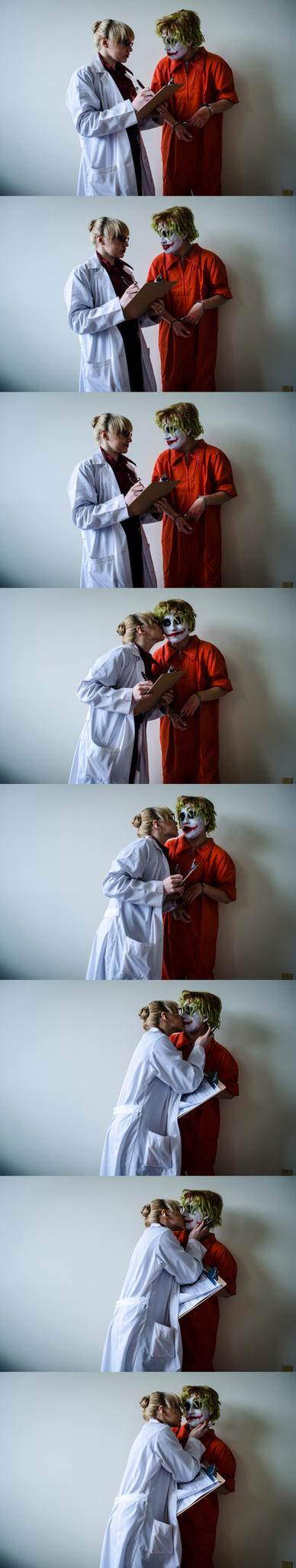 Dr. Harleen Quinzel overseeing Patient 4479 [Pt 1] by NabCosplay