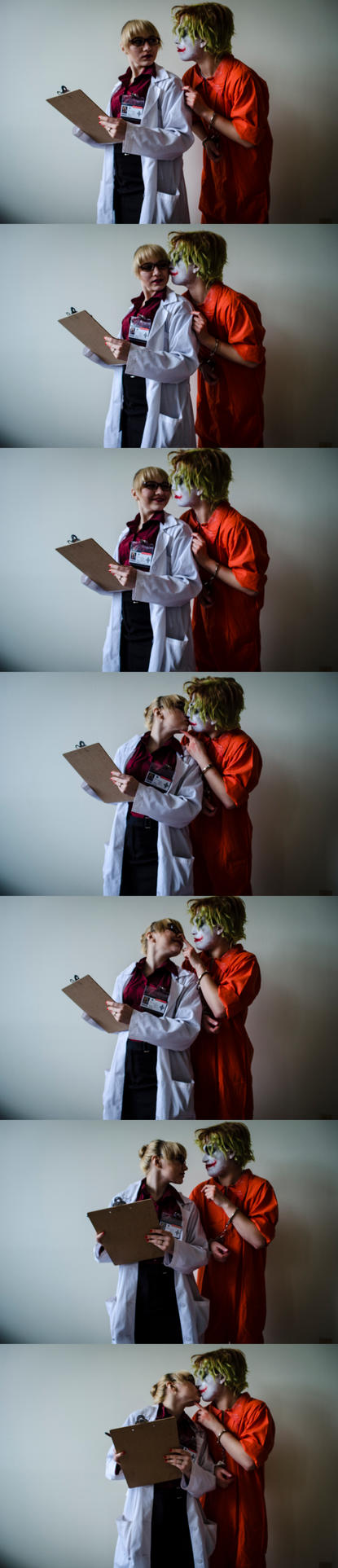 Dr. Harleen Quinzel overseeing Patient 4479 [Pt 2] by NabCosplay