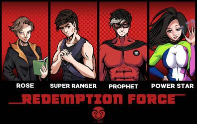 Comision Comic Heros by kratosfelipe