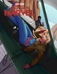 Cover captain marvel by kratosfelipe