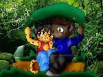 Chibis Krain y Creu by NickyRamfigue