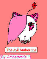 The Evil Amber Doll With Blood by Amberstar911