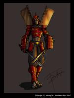 Hideyoshi's samurai by johnnytai