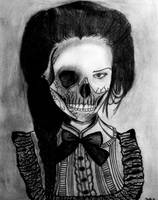 Skull Girl by GiselleArt7