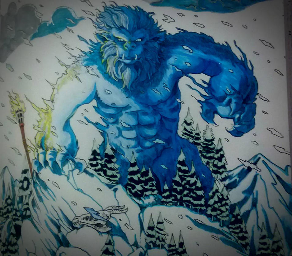 Yeti From Mythomorphia Coloring Book Finished By Girl That Draws