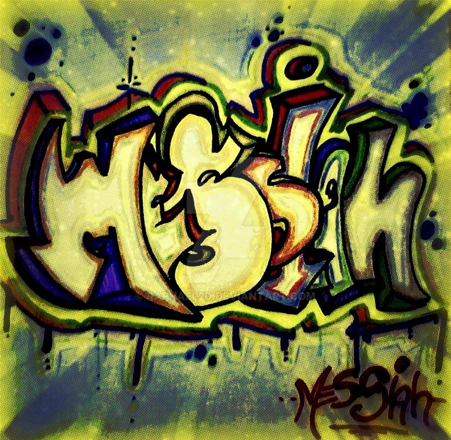 Graffiti Throw up Messiah by Raphael2D on DeviantArt