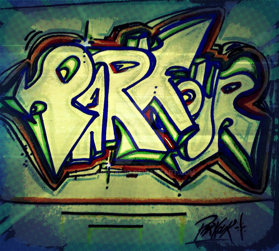 Graffiti Throw Up Parkour By Raphael2D