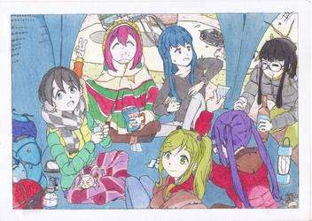 Yuru Camp Ep 12 ( Colorized )