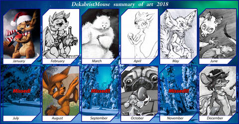 Summary of art 2018 by DekabristMouse