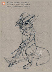 alexander WIP sketch with crossbow