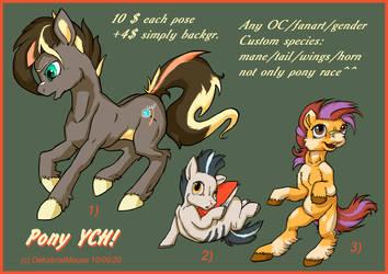 YCH pony set