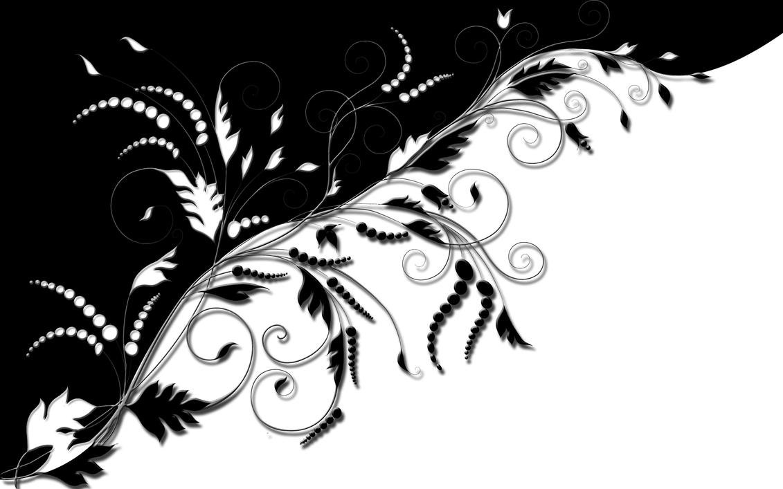 Black and White Ornament by ShadowAndLight63