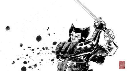 WOLVERINE samurai by IttoOgamy