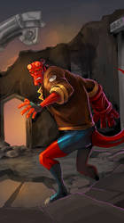 Hellboy...006 by IttoOgamy
