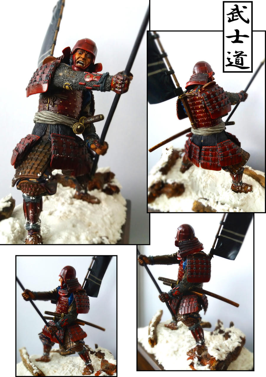 Samurai with yari (romeo models) painted by me by ...