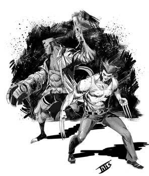 Hellboy and Wolverine