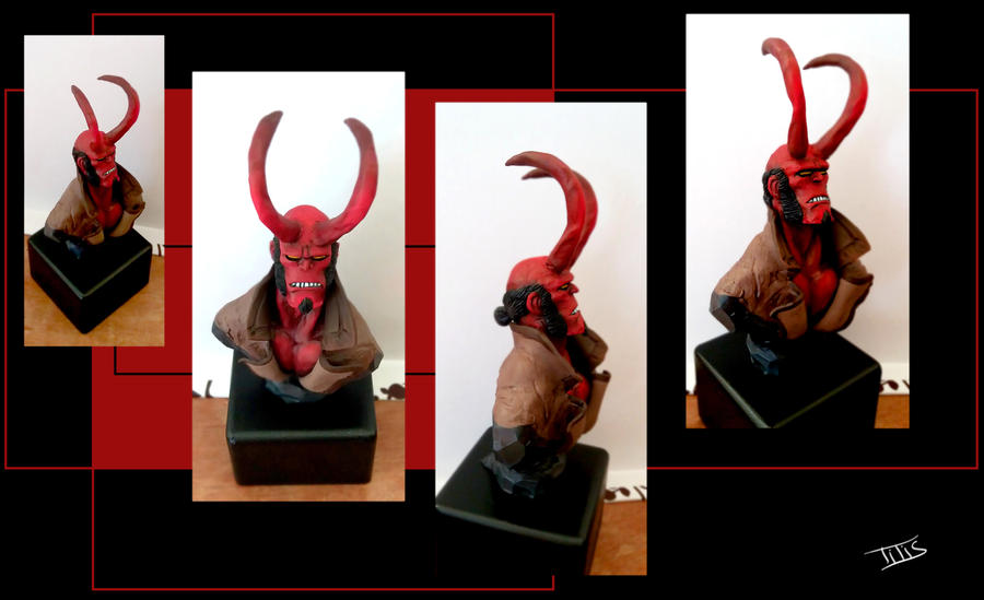 My own sculpted and painted HB bust...:) by IttoOgamy