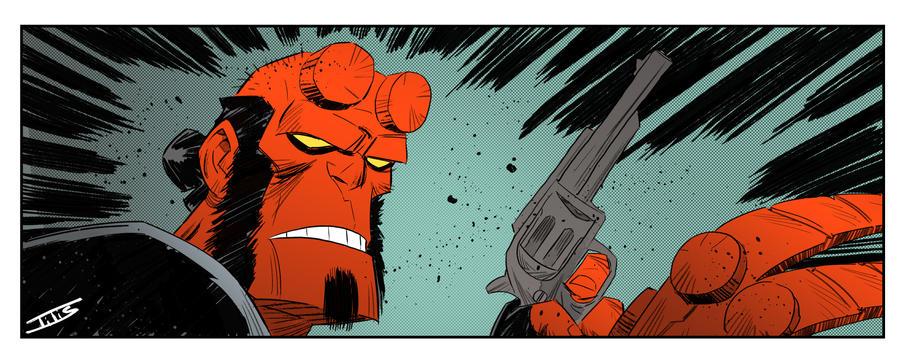 Hellboy panel by IttoOgamy