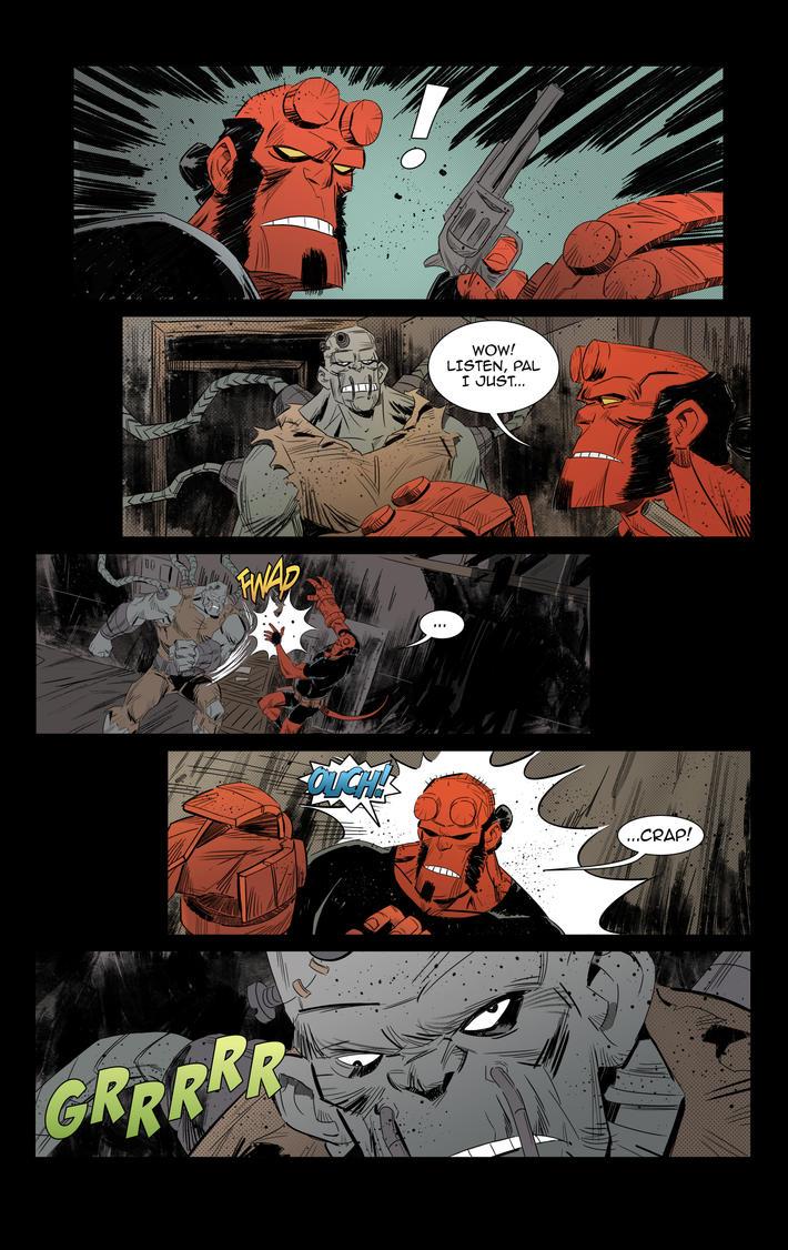 Hellboy vs Frankenstein fan page 02 by IttoOgamy