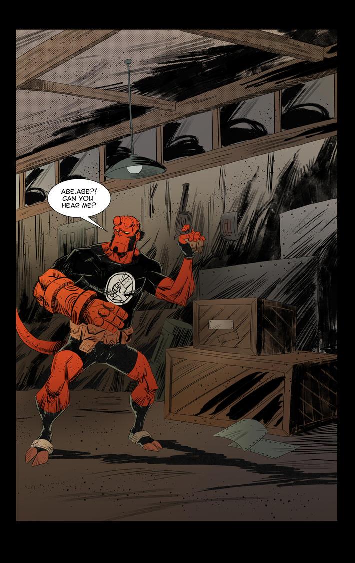 Hellboy vs Frankenstein fan page 01 by IttoOgamy