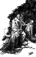 Hellboy fast sketch... by IttoOgamy