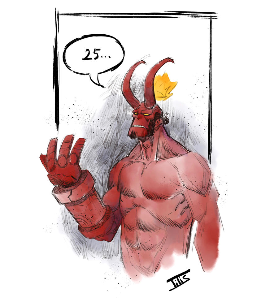 Hellboy 25 years by IttoOgamy