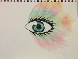 Rainbow Eye by warrior-princess46