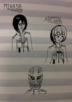 Attack On Titan Sketches (Edited) by warrior-princess46