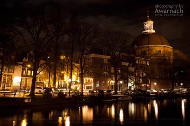 Amsterdam by night IV by Awarnach