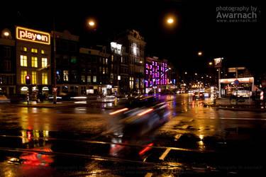 Amsterdam by night II by Awarnach