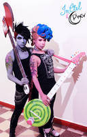 Marshall Lee x Prince Gumball  - Punk Version by InCielxCPherCosplay