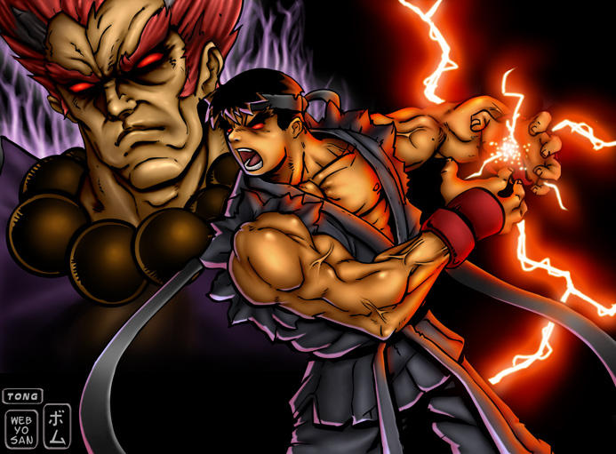 evil ryu wallpaper. Evil Ryu by ~webyosan on deviantART