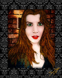 Taylor Fox Portrait by GothicPrincess1974