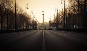 morning city lights